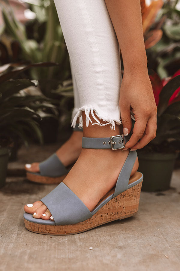 The Bellamy Wedge In Airy Blue