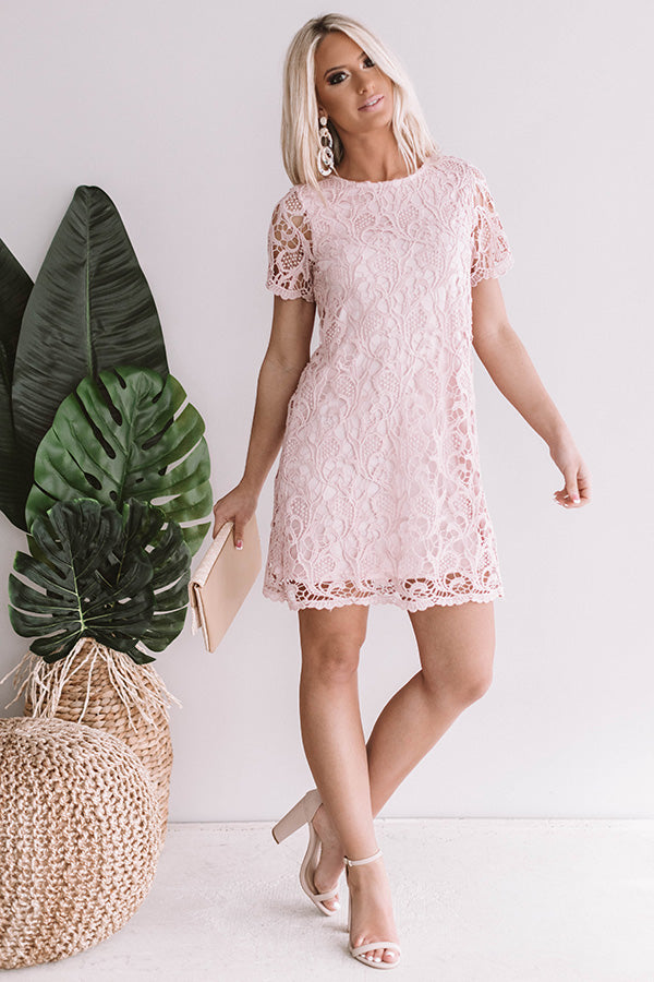 beb15d4bafc3 You Know You Love Me Crochet Dress In Blush • Impressions Online ...
