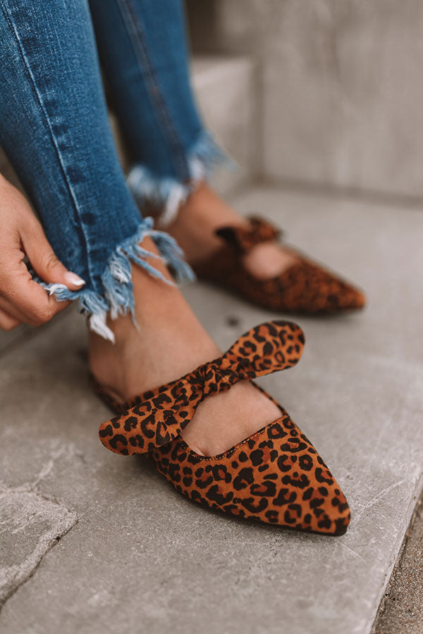 The Sebastian Leopard Flat