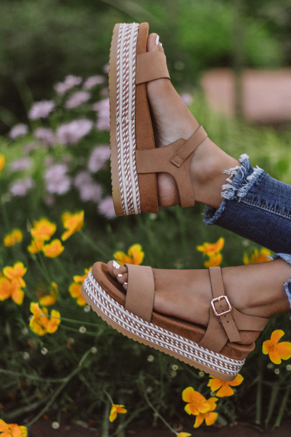 The Evalina Espadrille In Iced Latte