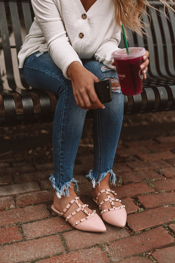 The Candace Flat In Rose Quartz