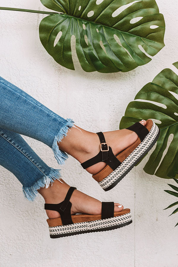 The Evalina Espadrille In Black
