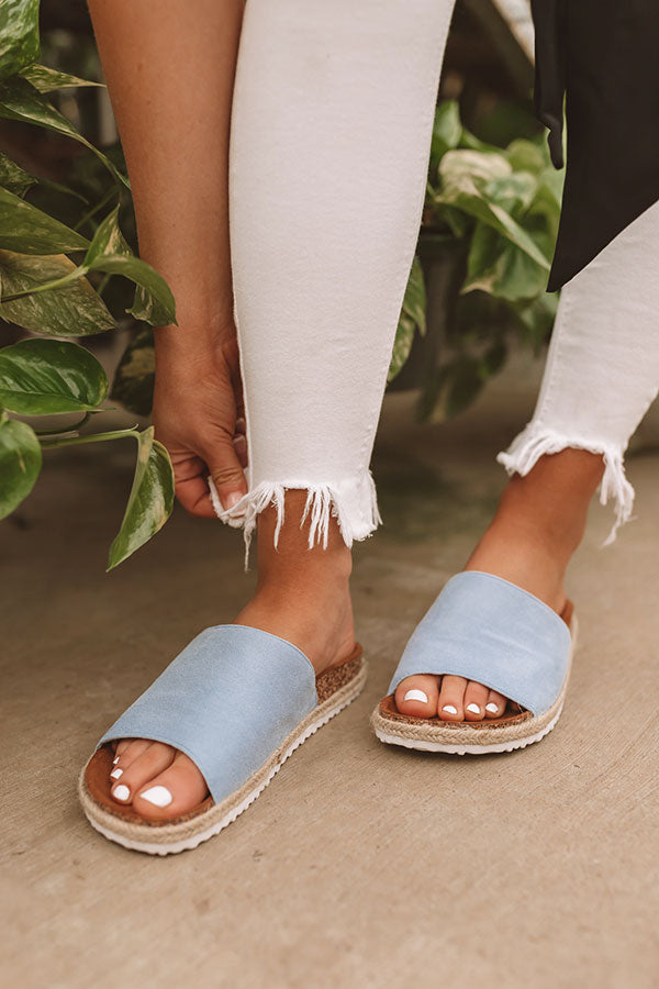 The Sadie Sandal In Sky Blue