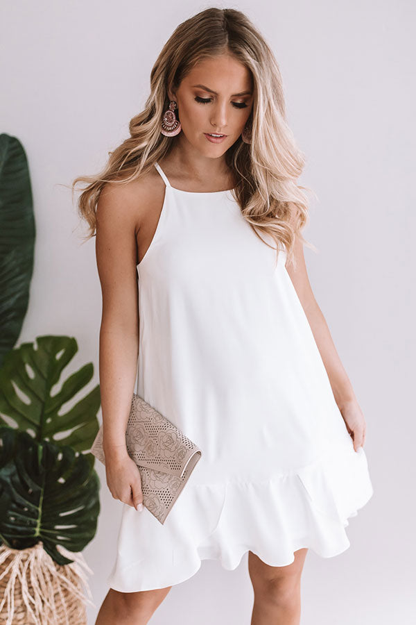 Margs In Maui Shift Dress In White