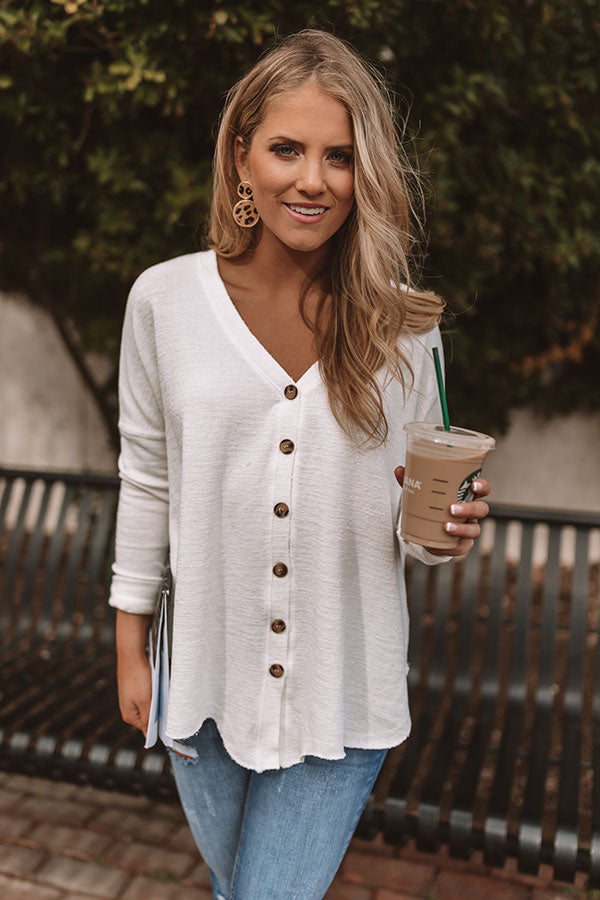 Seattle In Spring Shift Top In Ivory