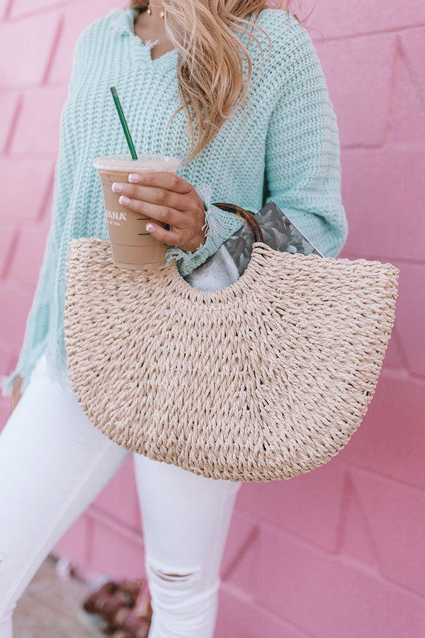 Off The Coast Woven Tote In Ivory
