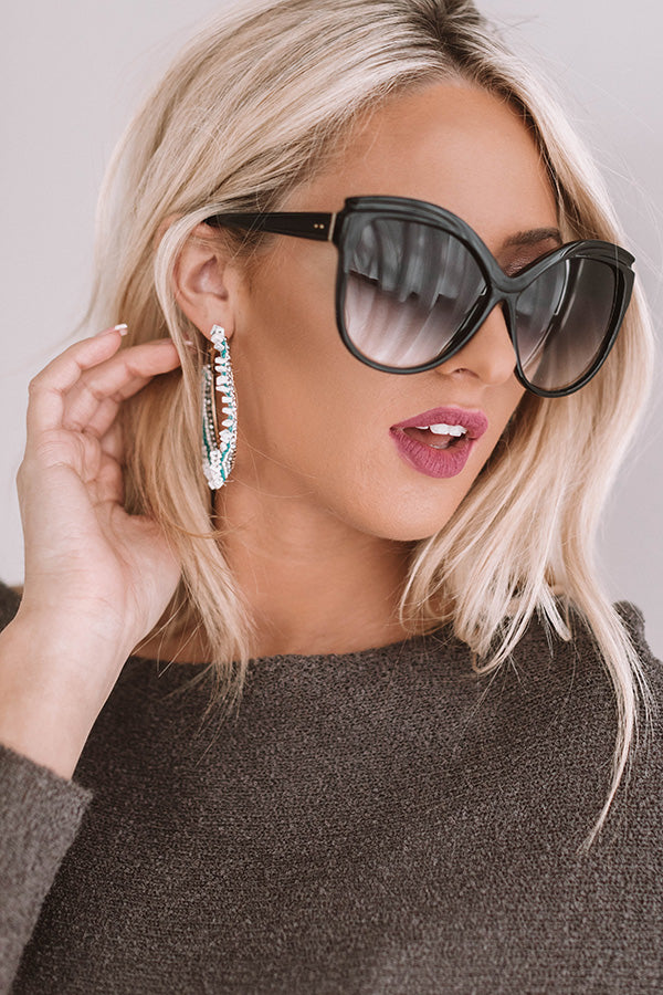 Miami Hot Spot Sunnies In Faded Black