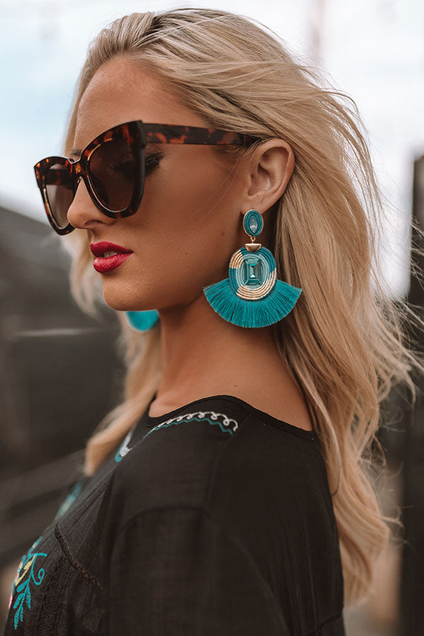 Pinot On The Pier Earrings In Blue