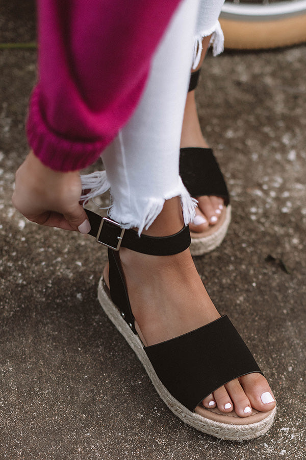 The Jemma Espadrille In Black