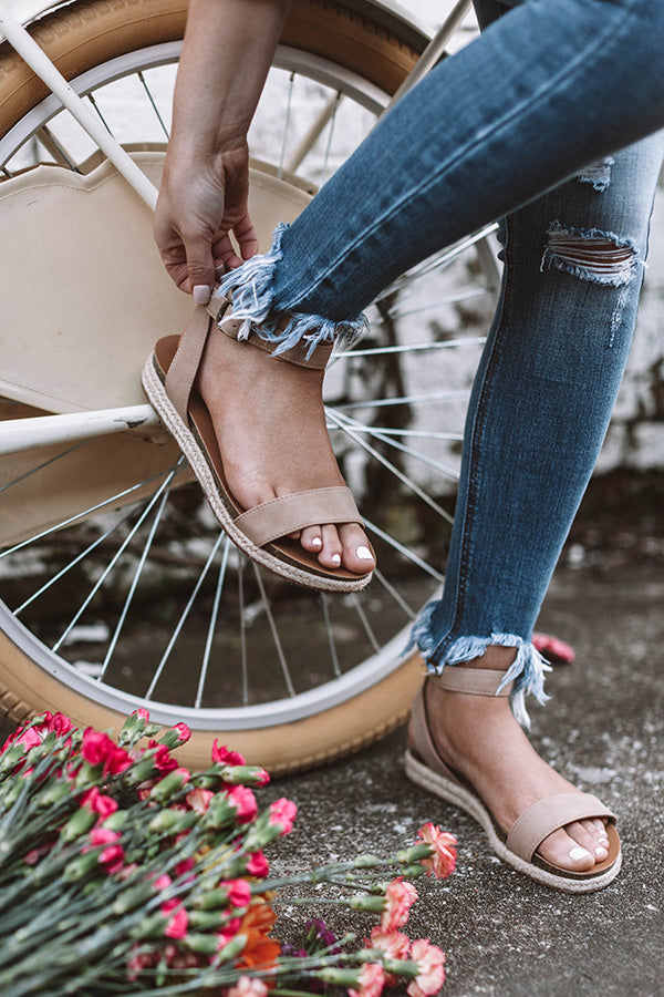 The Nadia Sandal In Iced Latte