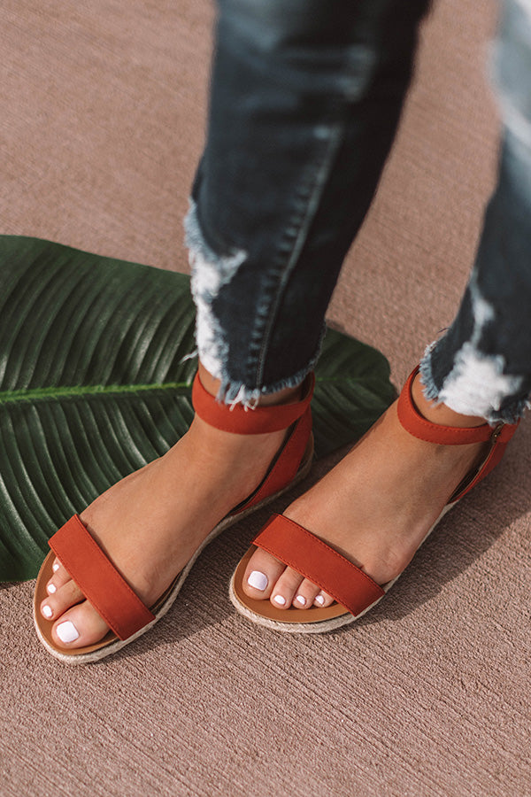 The Nadia Sandal In Aurora Red