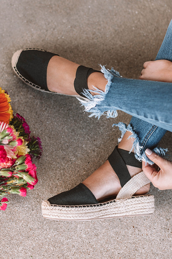The Maya Espadrille In Black