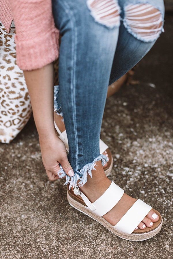 The Bianca Espadrille In White