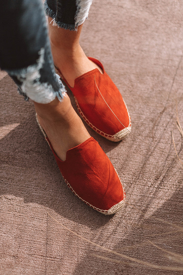 The Brielle Flat In Aurora Red
