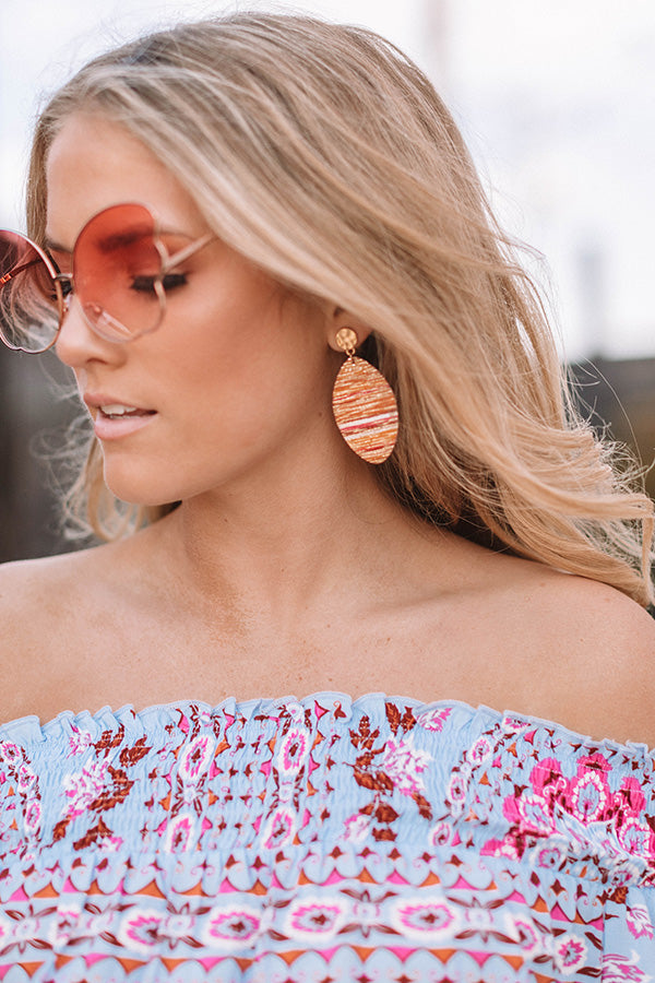 St. Tropez Shine Earrings in Nectarine