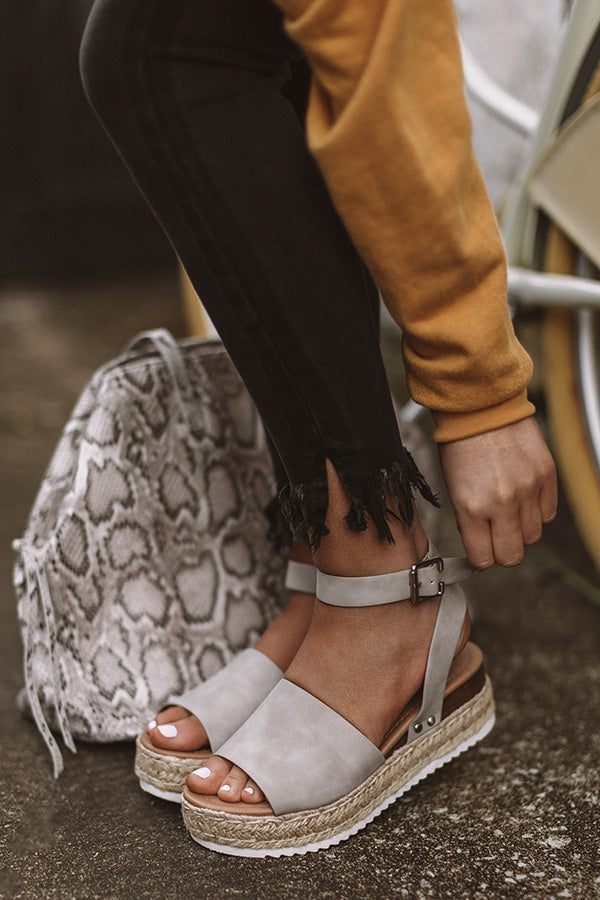 The Brighton Espadrille In Grey