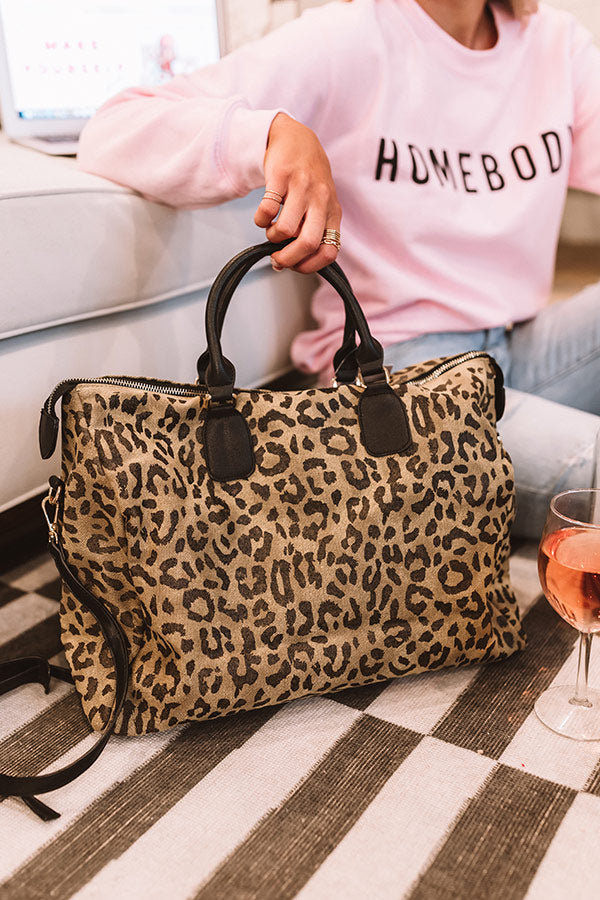 Chic Serendipity Leopard Canvas Tote