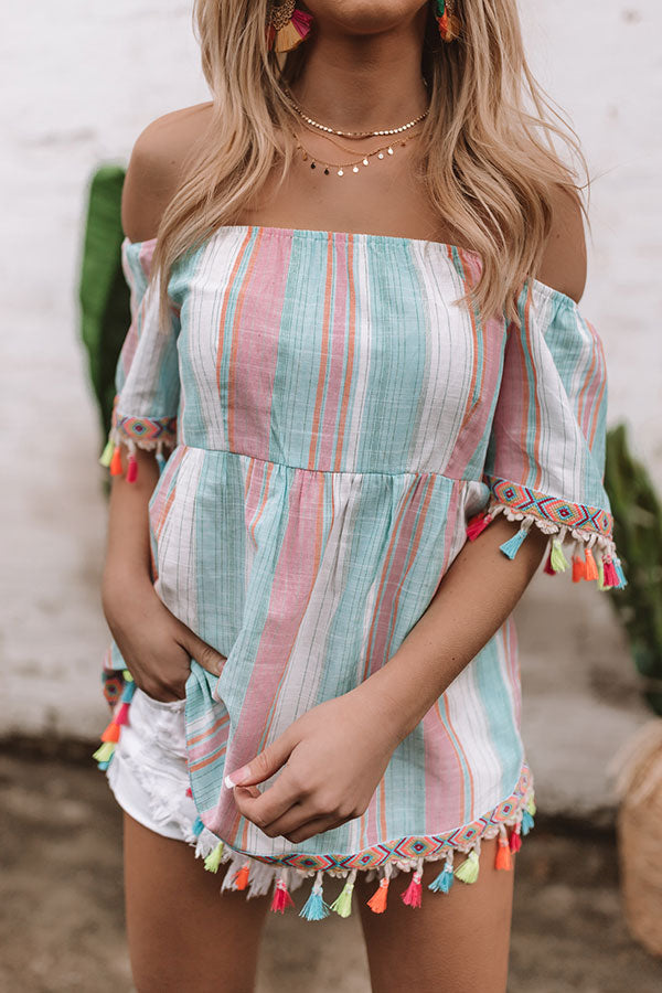 Maui Coast Off Shoulder Top