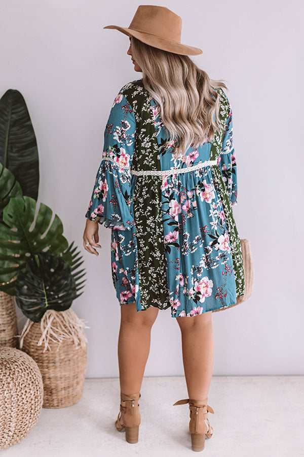 Chic Serendipity Floral Babydoll Dress
