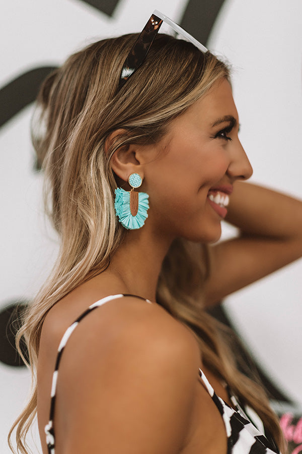 Hidden Lagoon Earrings In Aqua