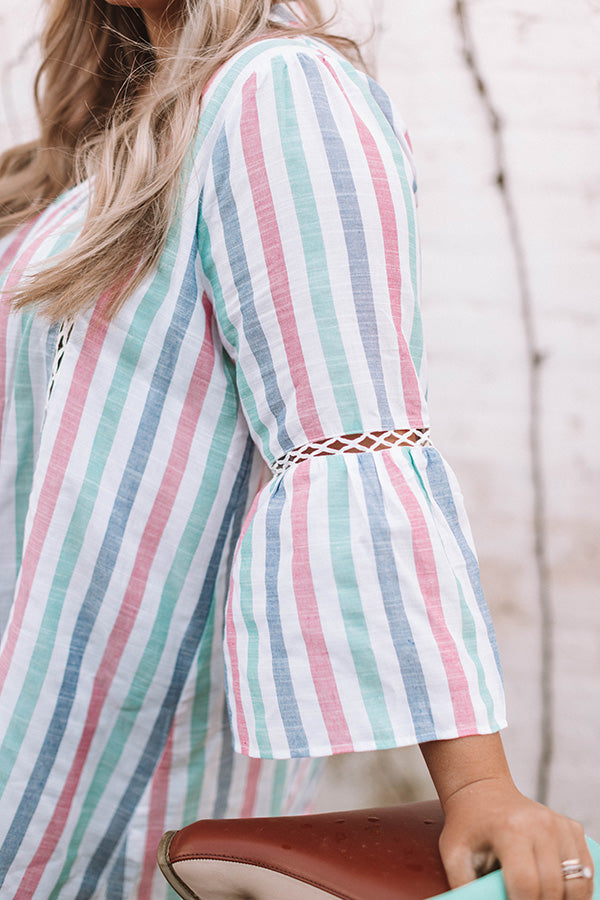 Watercolor Sunset Stripe Tunic