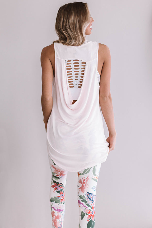 Chic And Breezy Shift Tank In Light Pink