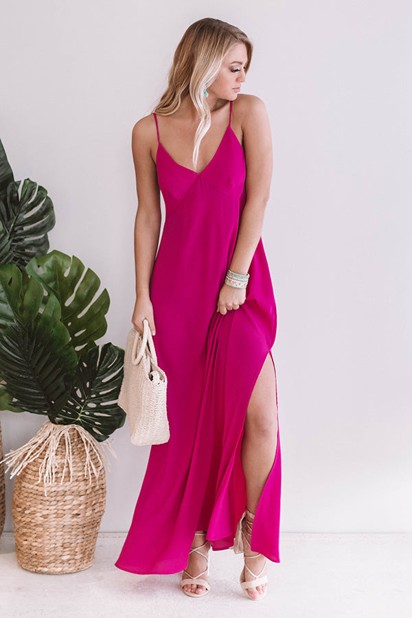 Garden Party Perfection Maxi In Fuchsia