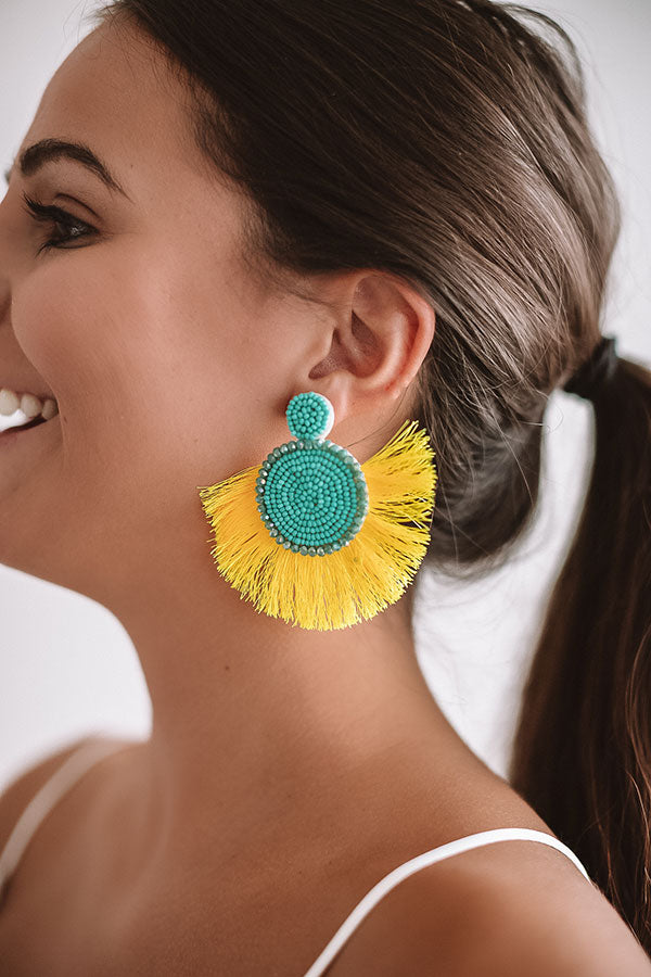 Cabana Crush Earrings In Turquoise