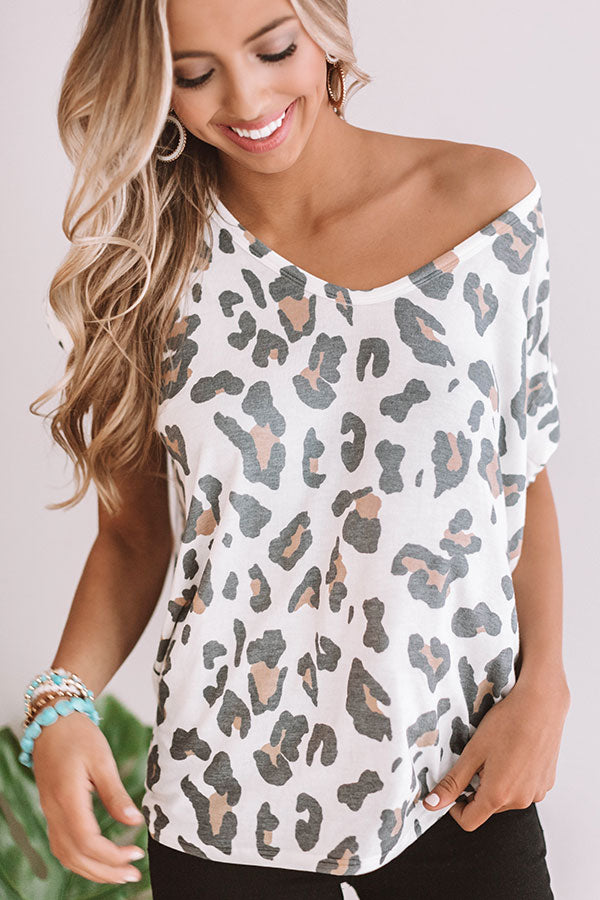 Rooftop Soiree Leopard Shift Top