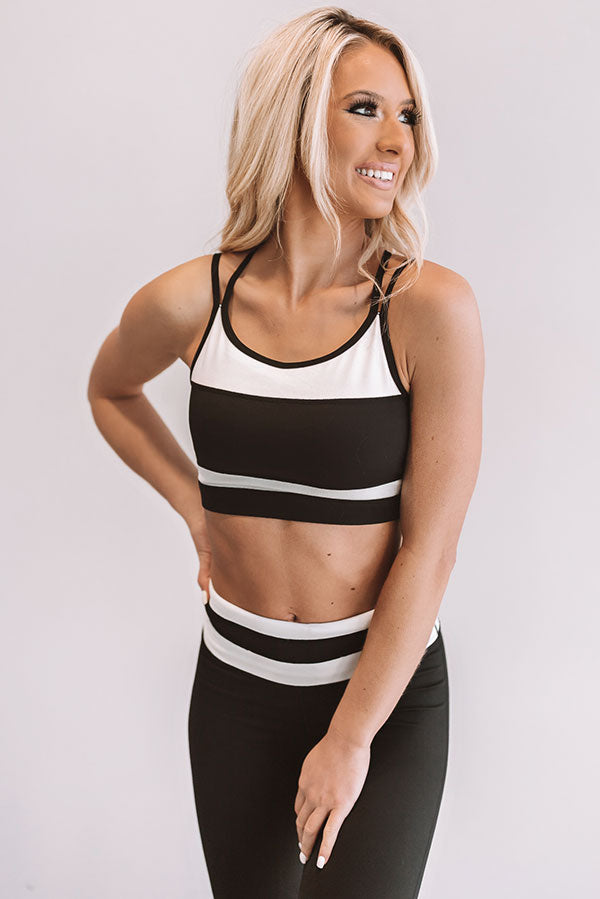 Step Up Stripe Sports Bra