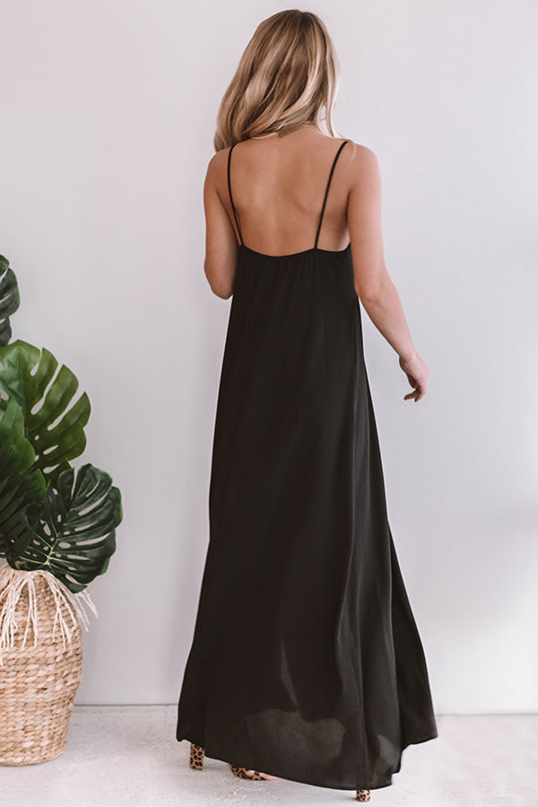 Garden Party Perfection Maxi In Black