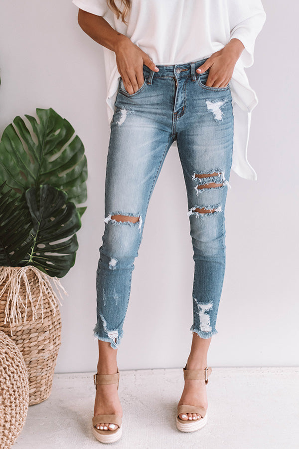The Liston Highwaist Distressed Skinny