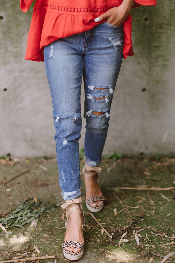 The Liston High Waist Distressed Skinny
