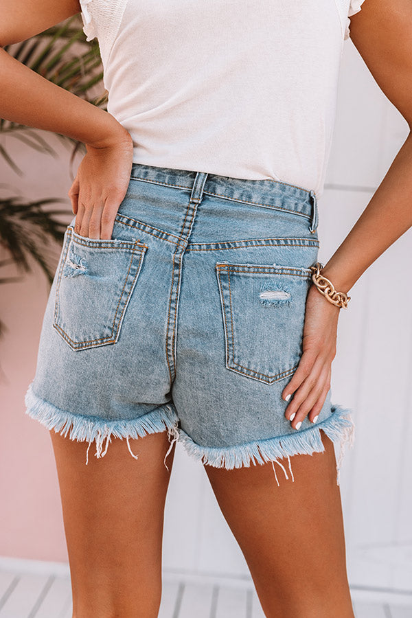 The Pixie High Waist Destroyed Shorts