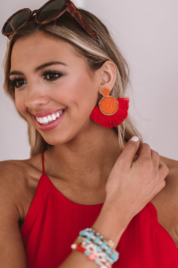 Cabana Crush Earrings In Persimmon
