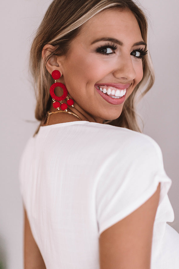 Summer In The City Earrings In Red