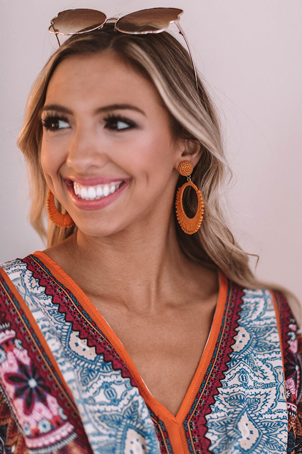 Tropical Luxe Earrings In Orange