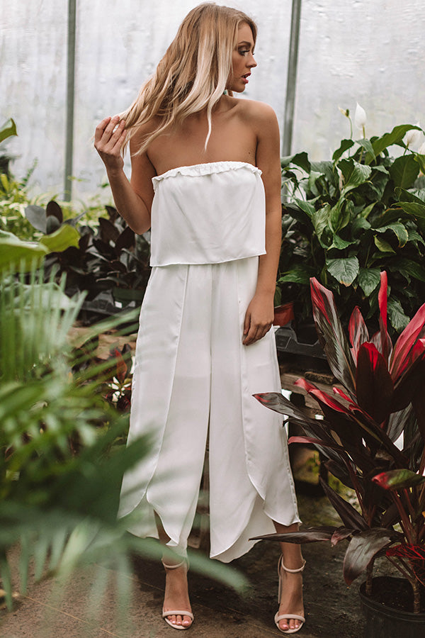Bubbles And Bungalows Jumpsuit In White
