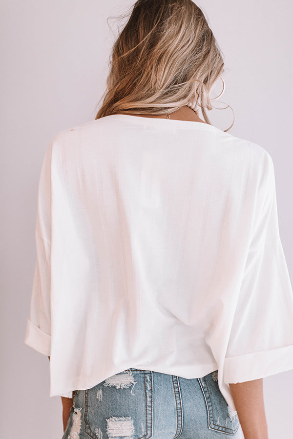 Ocean Dreams Shift Top in Ivory