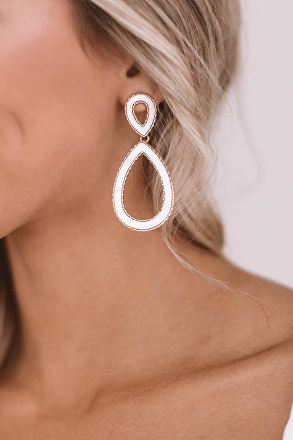 Mojito Divine Earrings In White