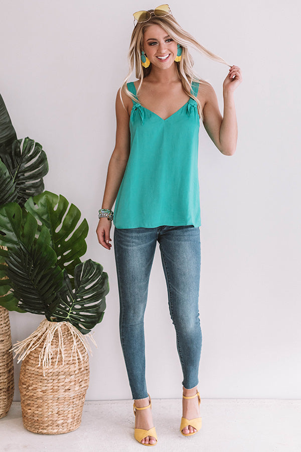 Concert Casual Shift Tank In Emerald