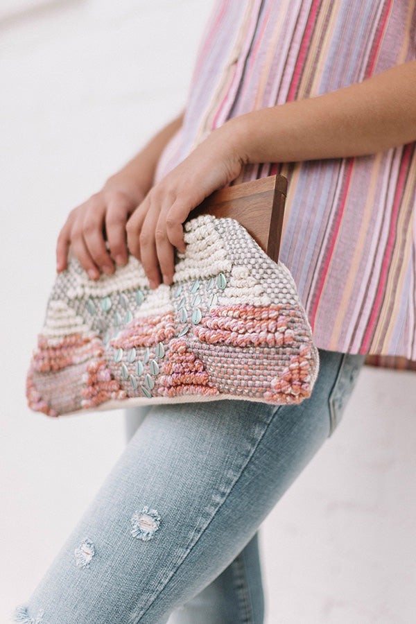 Beach Season Knitted Clutch