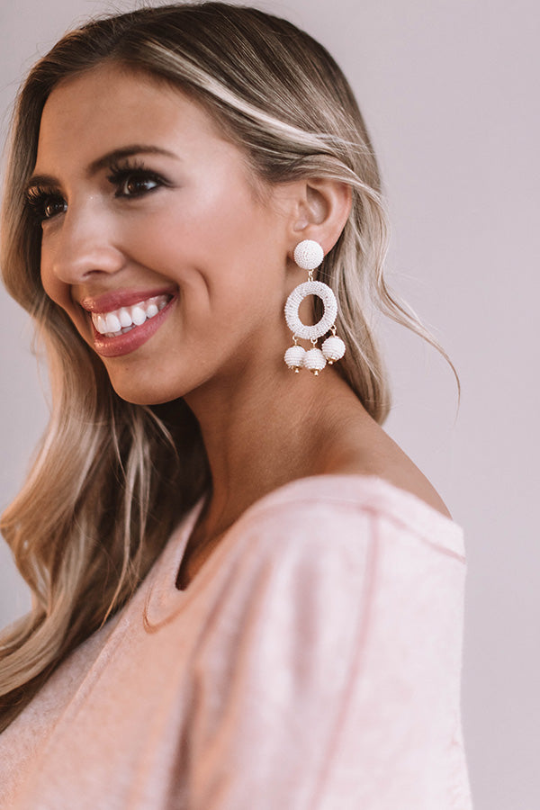 Summer In The City Earrings Ivory