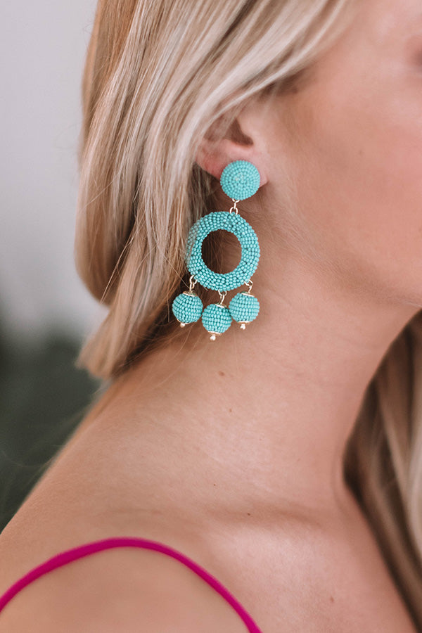 Summer In The City Earrings In Aqua