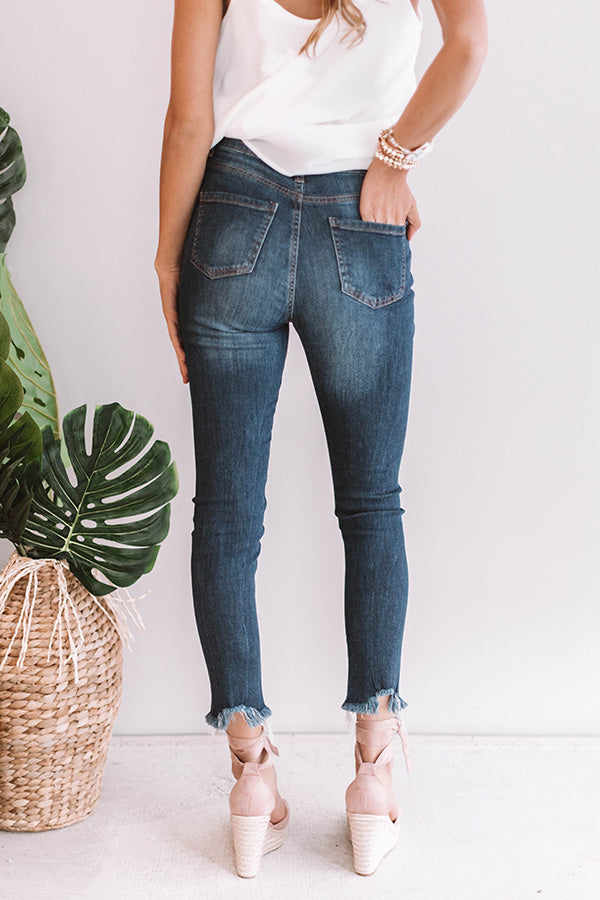 The Saige High Waist Distressed Denim