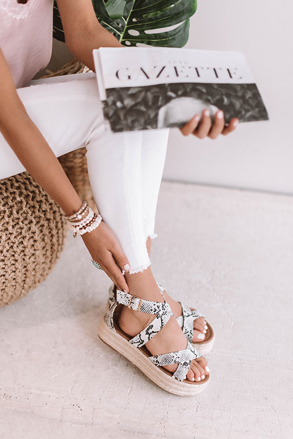 The Beatrix Espadrille In Snake Print