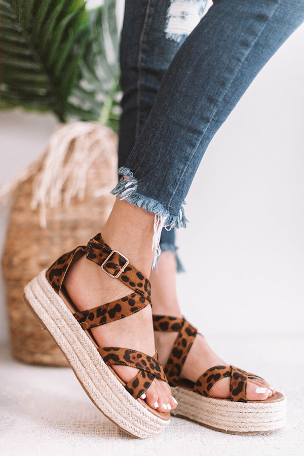 The Beatrix Espadrille In Leopard