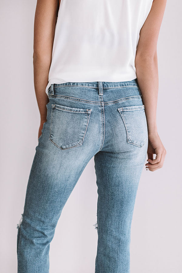 The Porter Midrise Distressed Relaxed Skinny