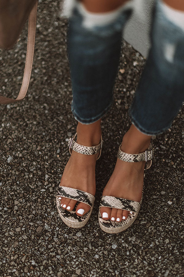 The Eliana Espadrille In Snake Print
