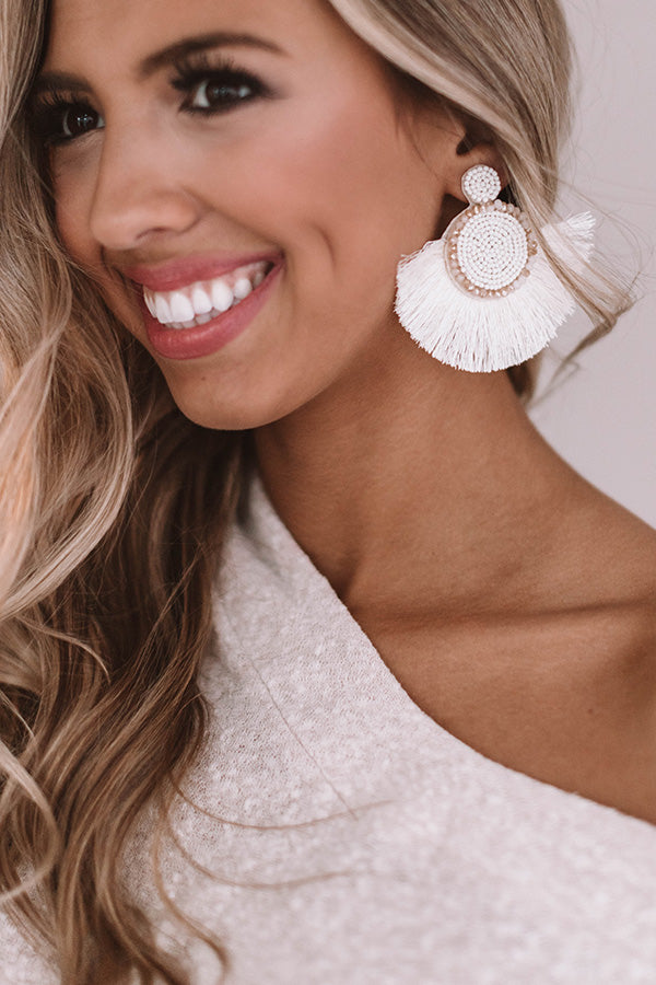 Cabana Crush Earrings In Ivory
